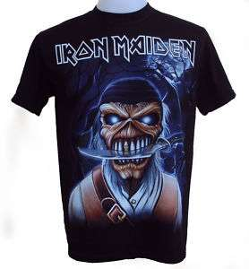 Iron Maiden Pirate T Shirt Free Patch Brand New