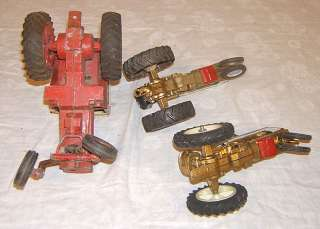 Old 1960s cast metal International Harvester tractors vintage toy