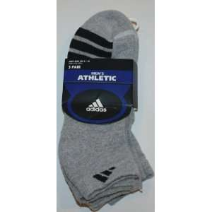 Adidas Mens Athletic Low Cut Socks 3 Pair   Shoe Size 6