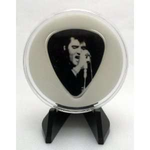 Elvis Presley The King Guitar Pick #3/6 With MADE IN USA Display Case