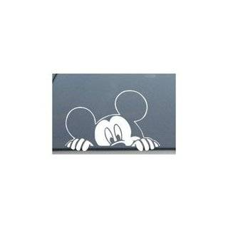 Mickey Mouse Disney Peeking Looking Car Window Decal Sticker  SM0008