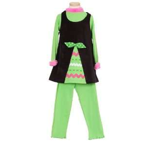 Peaches N Cream Infant Toddler Girls Black Christmas