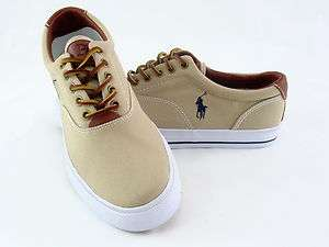 POLO RALPH LAUREN VAUGHN CANVAS LOW KHAKI