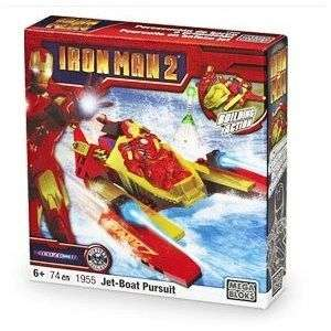 Mega Bloks Iron Man 2 Jet Boat Pursuit 1955 NEW
