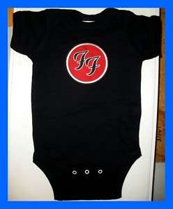 FOO FIGHTERS NIRVANA BABY ONESIE ROCK T SHIRT NEW