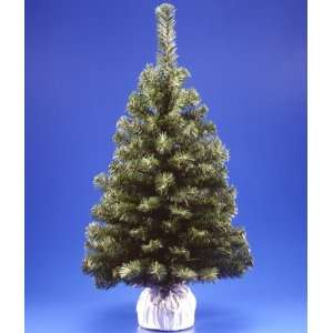 Noble Blue Spruce Artificial Christmas Tree In Silver Bag
