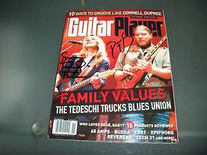 Tedeschi Signed Guitar Player Magazine Blues Allman Brothers