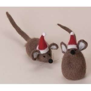 Club Pack of 12 Wonderful Christmas Time Plush Brown Mice