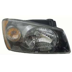 OE Replacement Kia Spectra Passenger Side Headlight Assembly Composite