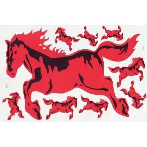 Red Fire Hot Horse Mustang Car Decals Graphics Vinyl