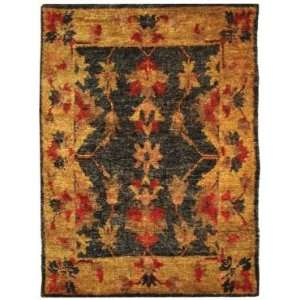 Safavieh Bohemian BOH316A Charcoal and Gold Country 4 x 6 Area Rug