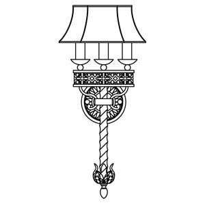 Fine Art Lamps 824950ST Chateau Rustic Iron Wall Sconce