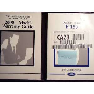 2000 Ford F150 Owners Manual F 150 Unknown Books