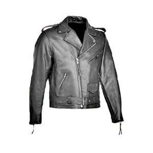 River Road Mens Basic Leather Jacket 52 Automotive