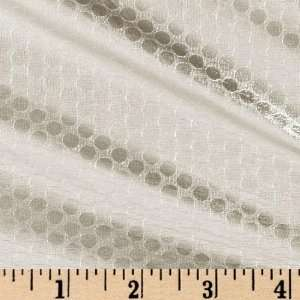54 Wide Tricot Lame Dots Silver Fabric By The Yard Arts