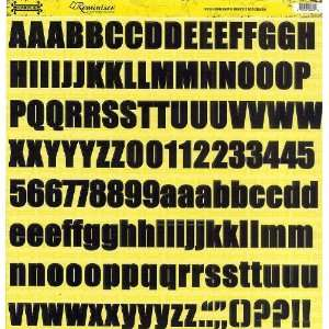 Road Signs Die Cut Stickers Asphalt Alphabet Electronics