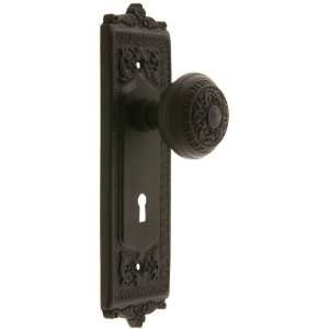 Egg & Dart Design Mortise Lock Set With Matching Knobs in