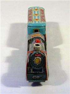 Vintage Tin Litho Friction Toy Train Locomotive Japan