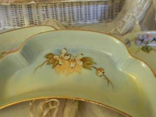 Antique Hand Painted Porcelain Bone Dishes~Asst. Floral
