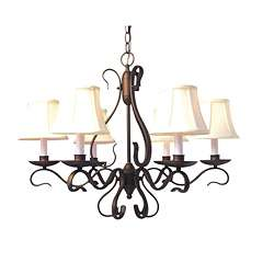 Manchester 6 light Oil Rubbed Bronze Chandelier