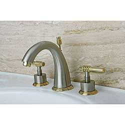 Satin Nickel/ Polished Brass Bathroom Faucet