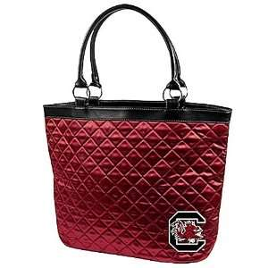 South Carolina Gamecocks Garnet Quilted Tote Bag Sports