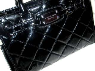 Quilted Leather HAMILTON Satchel HANDBAG SOLD OUT BLACK $349