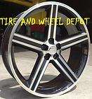 BLACK IROC RIMS WHEELS AND TIRES CHRYSLER 300C CHARGER MAGNUM DAYTONA