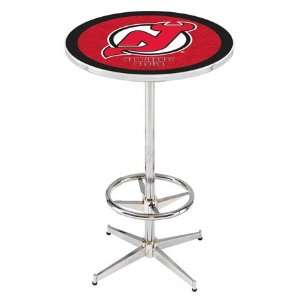 36 New Jersey Devils Counter Height Pub Table   Chrome Base with