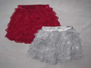 Baby Gap Admirals Club Tulle Skirt Red Silver 3 4 NWT