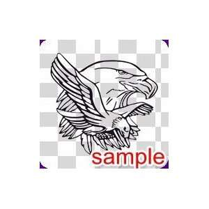 ANIMALS TWO BALD EAGLE 10 WHITE VINYL DECAL STICKER