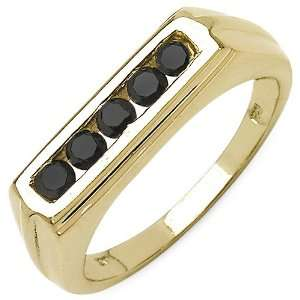 0.40 Carat 14K Yellow Gold Plated Sterling Silver Genuine