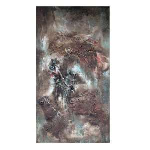 Yosemite Home Decor CNA108 2 Eruption Hand Painted Abstract Wall Art