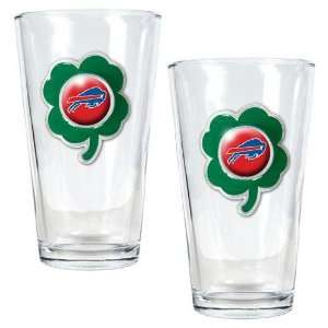 NFL Buffalo Bills St. Patricks Day 2pc Pint Glass Set