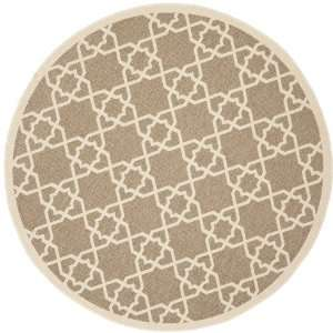 Safavieh Courtyard Collection CY6032 242 5R Brown and Beige Indoor