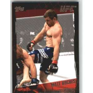2010 Topps UFC Trading Card # 28 Matt Hughes (Ultimate Fighting
