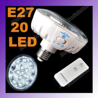 Rechargeable Emergency 20 LED Light Lamp Remote Control EP 701 E27