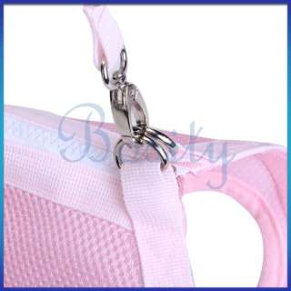 function Pet Dog Coat Apparel Clothes Leash Harness Carrier Bag M
