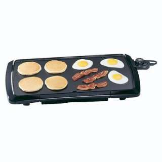 Presto Cool Touch 20 Inch Electric Griddle, Black 07030
