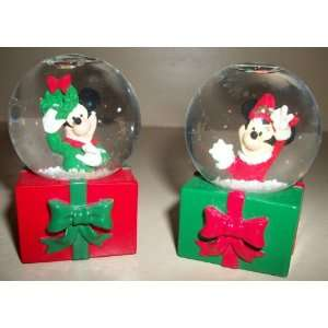 Mickey & Minnie Mouse Mini Holiday Snow Globes