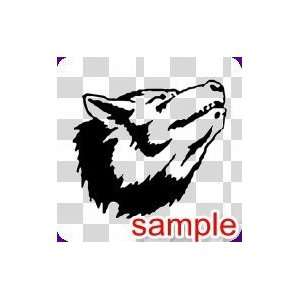 ANIMAL WOLF FACE 1 WHITE VINYL DECAL STICKER Everything