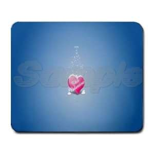 Love Valentines Day Hart Lovers Large Rectangular Mouse Pad   9.25 x