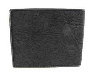 Genuine BLACK Shark Skin Leather Mens Bifold Wallet +