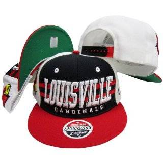 Louisville Cardinals Red/Black Two Tone Plastic Snapback Adjustable
