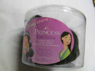 STORE GIRL PRINCESS JASMINE & MULAN KIDS DRESS UP WIG LONG BLACK HAIR