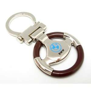 NEW DESIGN CAR STEERING WHEEL KEYCHAIN WITH BMW CAR LOGO