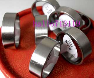 wholesale 100pcs plain band stainless steel rings