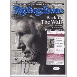 ROGER WATERS PINK FLOYD SIGNED AUTOGRAPHED MAGAZINE COA