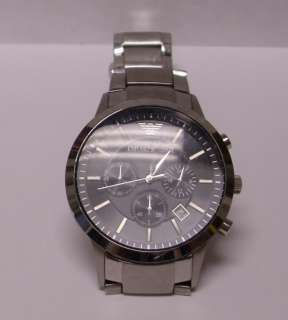 Emporio Armani Mens Stainless Steel Bracelet Watch WORKING PERFECT
