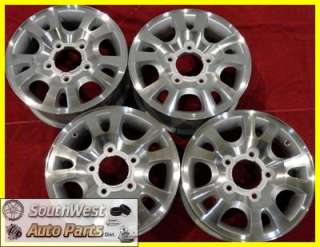 99 00 01 02 KIA SPORTAGE 16 USED MACHINED SILVER WHEELS FACTORY OEM